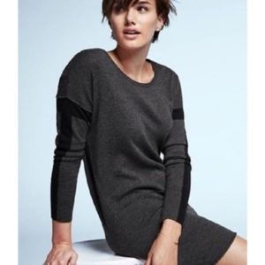 Athleta Merino Wool Azalia Gray Colorblock Sweater